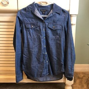 Banana Republic Blue Chambray Denim Shirt